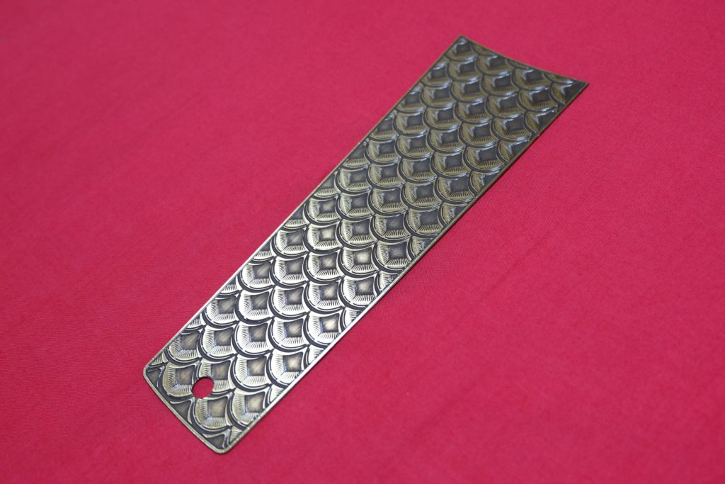 FXR Brass Fish Scale Tank Dash Cover lower part