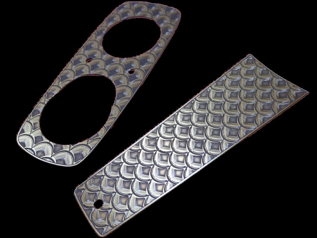 FXR用真鍮製ガソリンタンクダッシュカバー