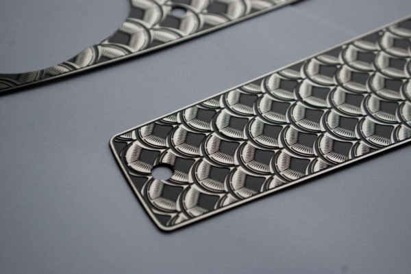 stainless steel fish scale tank dash inserts for FXR