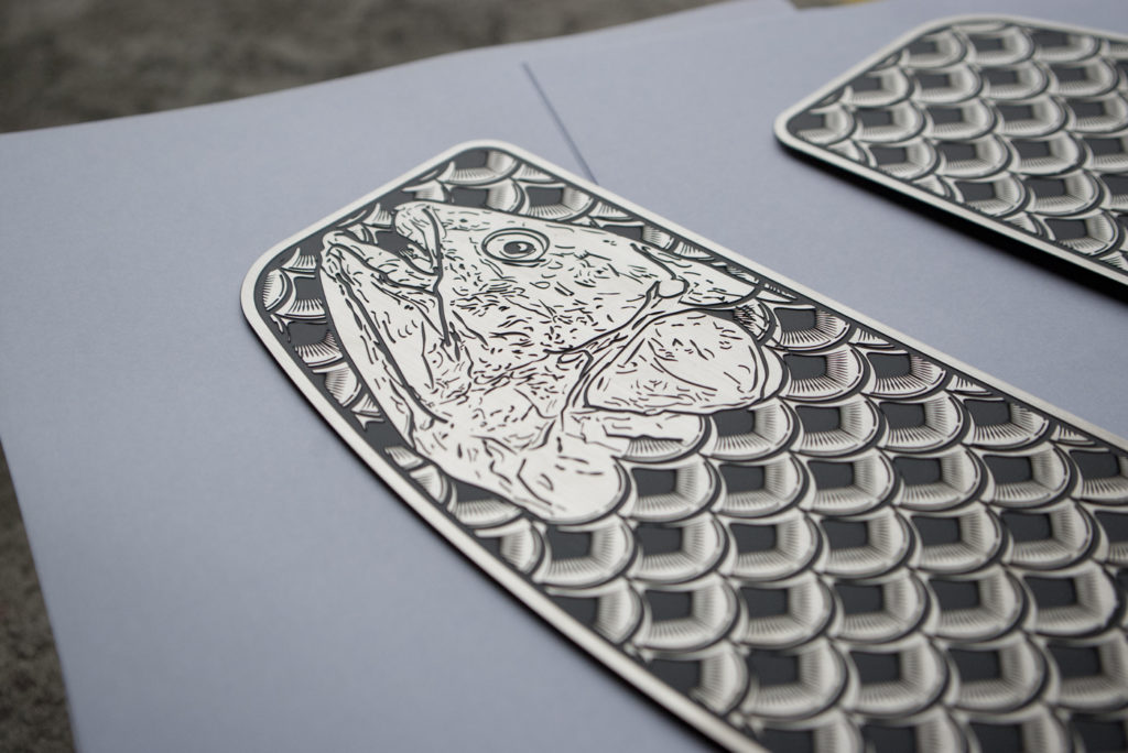stainless fish scale floorboard inserts for Harley-Davidson