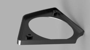 Aluminum speaker grill base for FXRD left back side