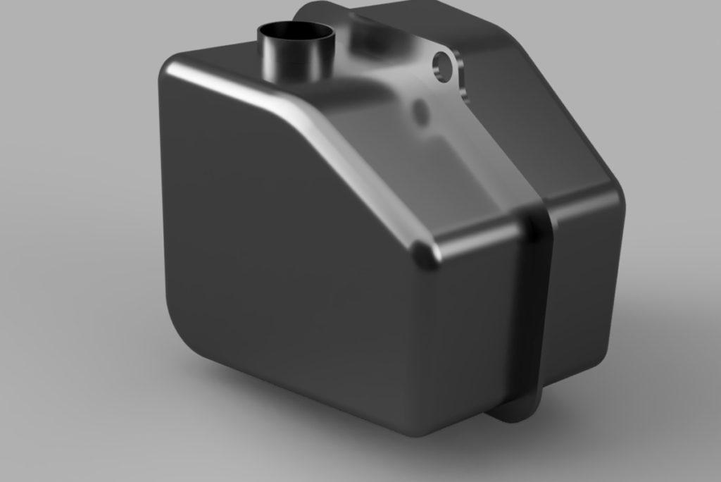 Fusion360を使用して製作したFXR用オイルタンク