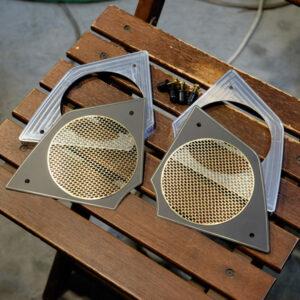Harley-Davidson FXRD Brass Speaker Cover