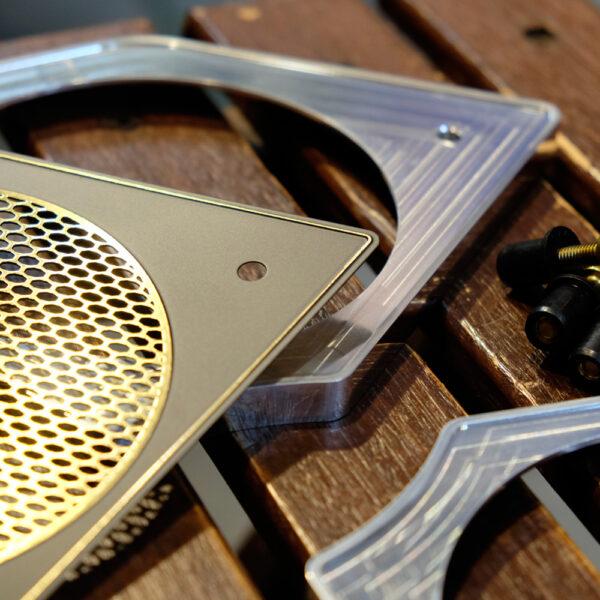 fxrd aluminum speaker cover and brass plates