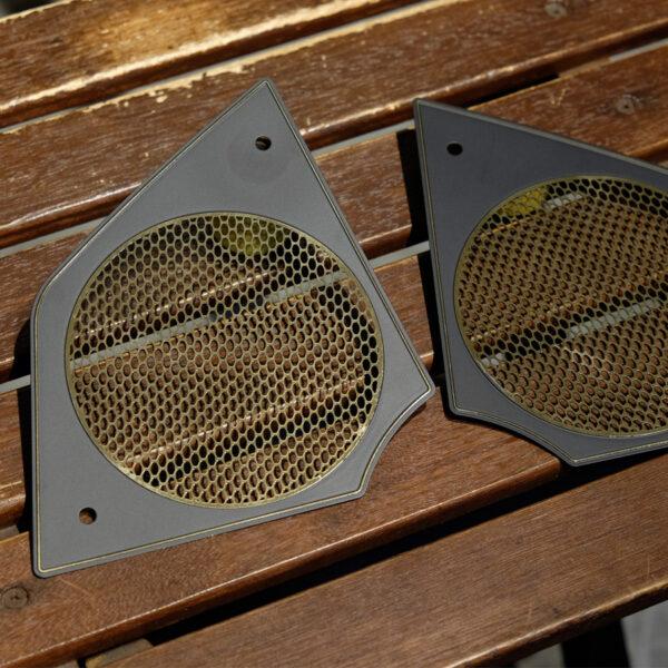 FXRD Speaker cover brass plates
